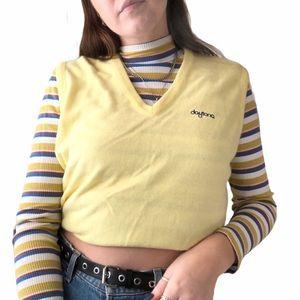 Vintage Pastel Yellow Daytona Sweater Vest